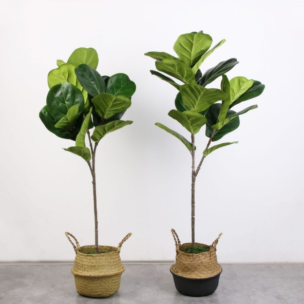 5 pcs Real Touch Artificielle Banyan Tree Branche Artificielle Banyan tree Plantes Faux Banyan Tree Bouquet Pour La Maison Jardin Décoration