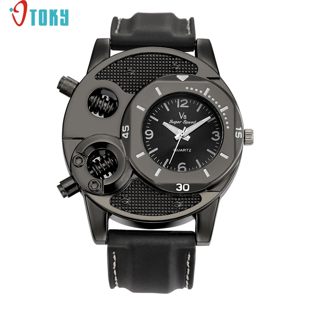 OTOKY fashion hot new Fashion Men's Thin Silica Gel Students Sports Quartz Watch drop ship gift June20 P30