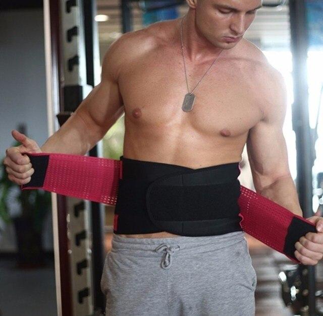 Men And Women Neoprene Lumbar Waist Support Waist Trimmer Belt Unisex Exercise Weight Loss Burn Shaper Gym Fitness Belts 4
