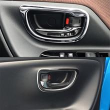 JY 4 pz SUS304 Interni In Acciaio Inox Interno Maniglia Rifiniture Copertura Car Styling per Toyota Vitz Yaris Hatchback 2017 Facelift