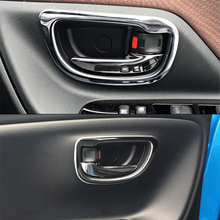 JY 4pcs SUS304 Stainless Steel Interior Inner Handle Trims Car Styling Cover for Toyota Vitz Yaris Hatchback 2017 Facelift