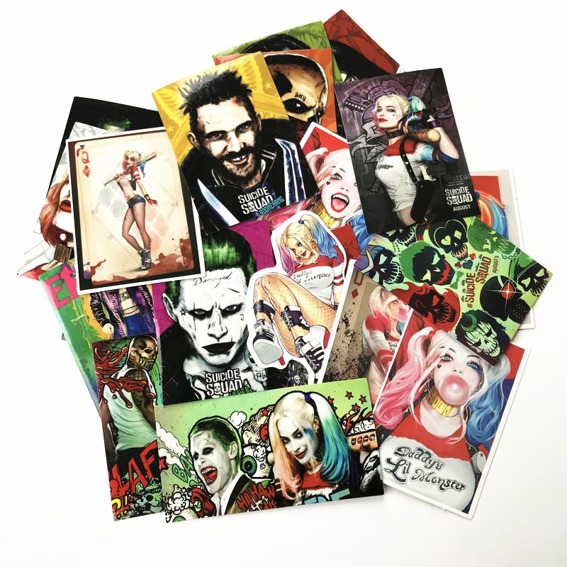TD ZW 27 Pcs/lot American Movie Suicide Squad Harley Quinn Cool Stickers For Car Luggage Pad PS4 Skateboard Laptop Decal Sticker