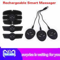 Masajeador de entrenamiento de adelgazamiento de pérdida de peso de dispositivo de ejercicio estimulador Abdominal ABS inteligente recargable
