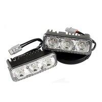Hot Sale Waterproof Car High Power Aluminum LED Daytime Running Lights With Lens DC12v Xenon White
