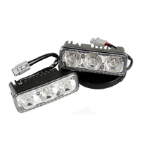 Hot Sale Waterproof Car High Power Aluminum LED Daytime Running Lights With Lens DC12v Xenon White