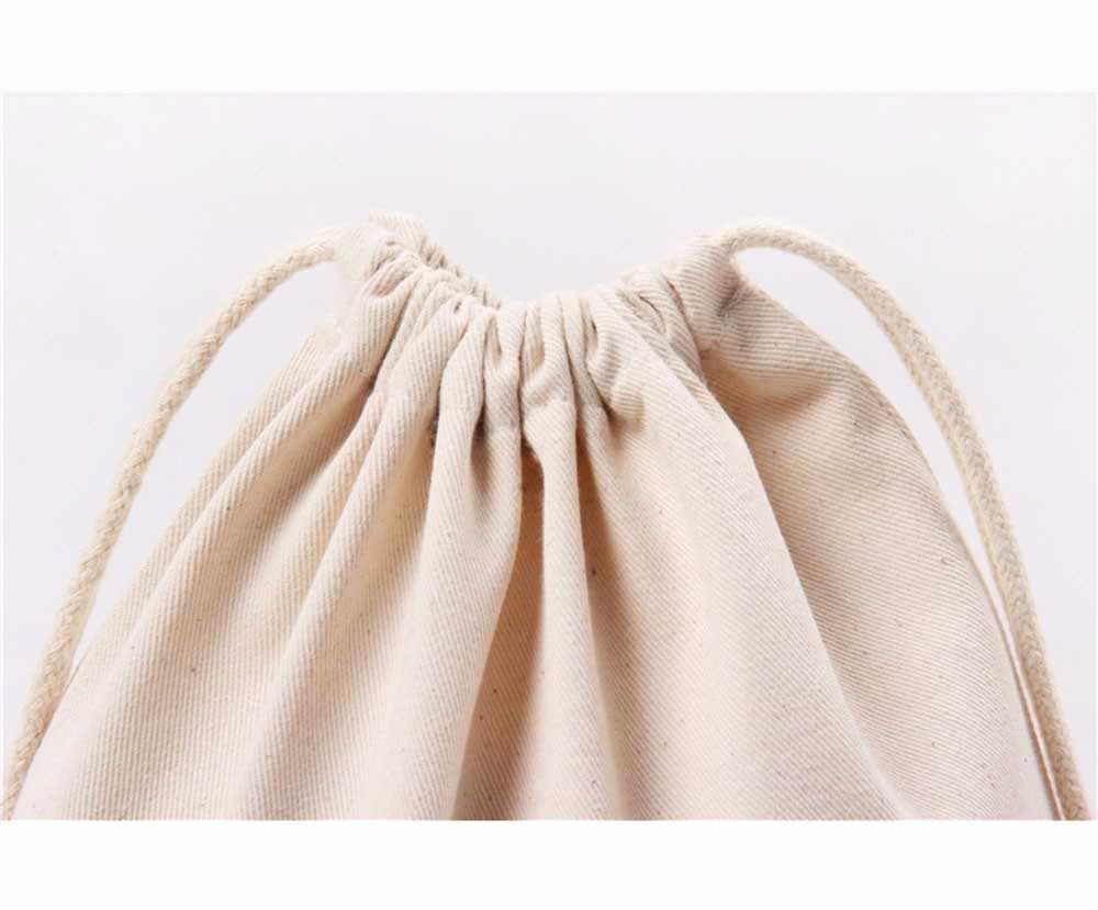 Ishowtienda saco de compras saco de armazenamento de linho de algodão sacos de cordão pequena bolsa de moedas bolsa de viagem feminina de pano bolsa de presente # wl