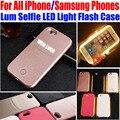 Selfie Свет Case для iPhone 7 Plus 6 Плюс 6 s 5S SE Case световой Case для samsung galaxy S5 S6 edge S7 edge IP655