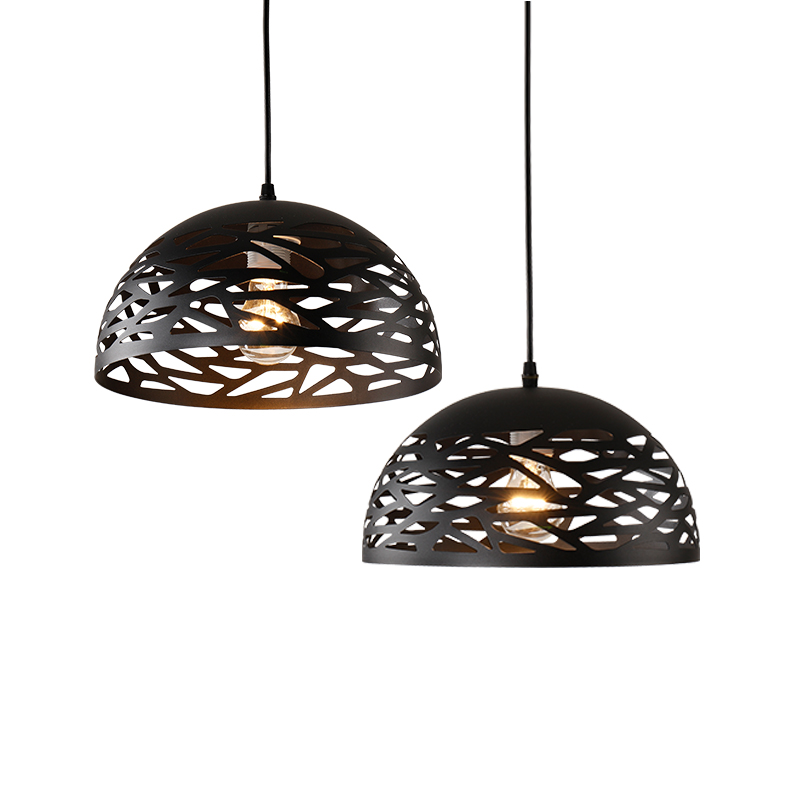 Vintage Pendant Lights Hollow Black Iron Pendant Lamp Kitchen Fixtures Dining Room Table Hanglamp avize luminaria Home LightingVintage Pendant Lights Hollow Black Iron Pendant Lamp Kitchen Fixtures Dining Room Table Hanglamp avize luminaria Home Lighting