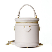 Famous Design Style Women Handbag Small Real Cow Leather Bucket Shape Female Purse Bag Casual Crossbody Girls Shoulder Bags цена