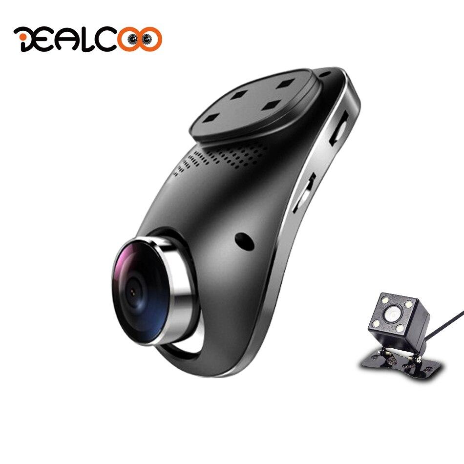 Dealcoo 3G Dash Cam Car DVR Wifi GPS Camera Remote Monitor Smart Android 5.0 Dual Lens 1080P Night Vision Dash cam DVRs