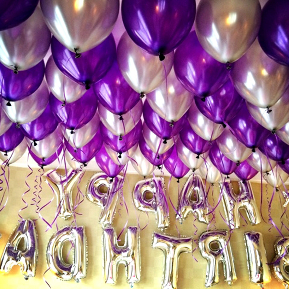 1 Set Purple Blue Color Adult Child Birthday Party Balloon Decoration Mom And Dads Hotel Decorative Wedding