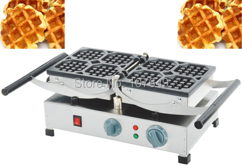 110V 220V Commercial Use Non-stick Electric Belgian Waffle Liege Baker Machine free shipping commercial use non stick 110v 220v electric 8pcs square belgian belgium waffle maker iron machine baker