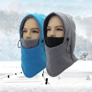 Image 2 - Outfly ฤดูหนาว Balaclava หมวก Windproof หมวกหน้ากากสกี Unisex หมวกฤดูหนาวหมวกขนแกะห่อหมวก