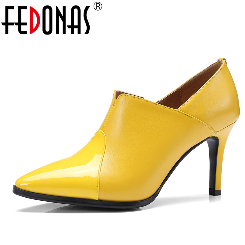 FEDONAS 2018 New Sexy Women Pumps Classic Pointed Toe High Heel Shoes Woman Sexy Lady Nightclub Wedding Party Shoes Female Pumps 2018 women high heel party pumps wedding sexy shoes lady thin heels 9 cm ankle buckle strap pointed toe rivet nightclub fashion