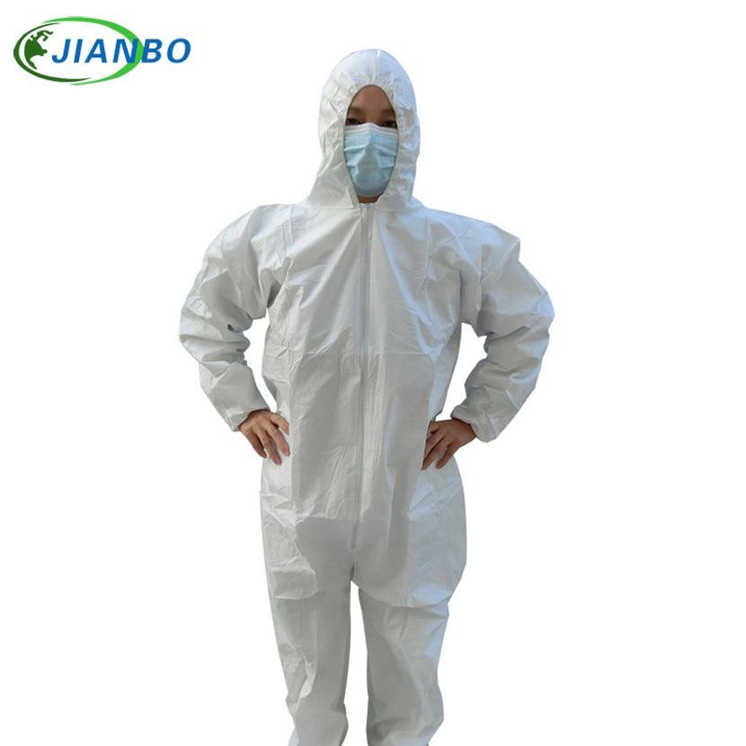 Engångsskyddskläder Vattentät kåpa Industrial Epidemic Spray Bekämpningsmedel Kemiskt skydd Asbest Work Jacke