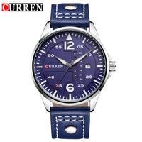 Luxury Brand CURREN Relogio Masculino Date Leather Casual Watch Men Sports Watches Men Quartz Military Wrist