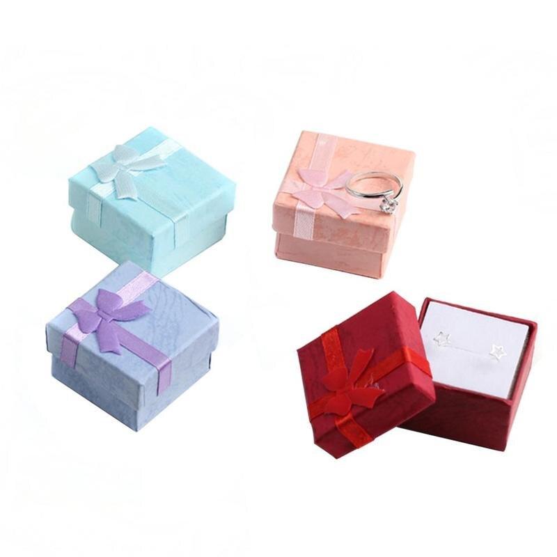 5 шт. модные однотонные Цвет Подарочная коробка Jewery Организатор Коробка для кольца серьги маленький подарок вечере подарочной коробке парт... ...