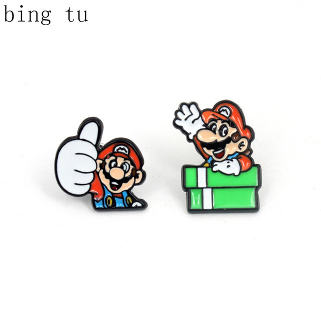 Bing Tu Lovely Enamel Monster Turtle Stud Earrings Women Children's Cartoon Jewelry Mario Game Earings boucle d'oreille enfant
