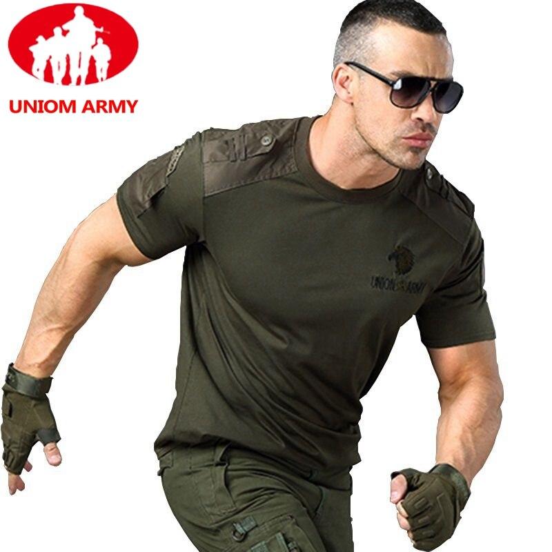 Armée T-shirt militaire T-shirt Style tactique T-shirt urbain hommes vert pour hommes Cargo uniforme à manches courtes homme T-shirt noir