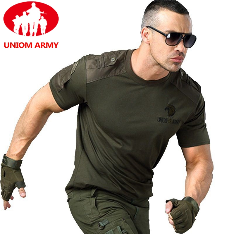 Army T Shirt Military Tshirt Style Tactical T-shirt Urban Men's Green For Men Cargo Uniform Short Sleeved Male Tee TShirt Black