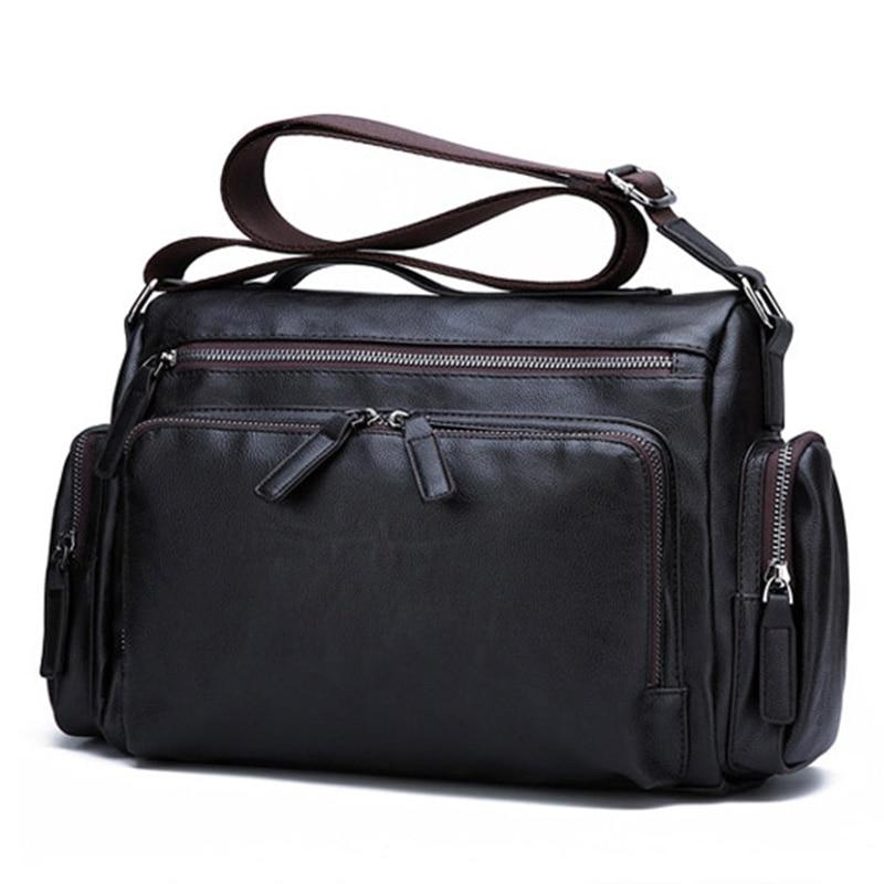 Luxury Brand Men's Messenger Bag Vintage Leather Shoulder Bag Crossbody Bags Handbags