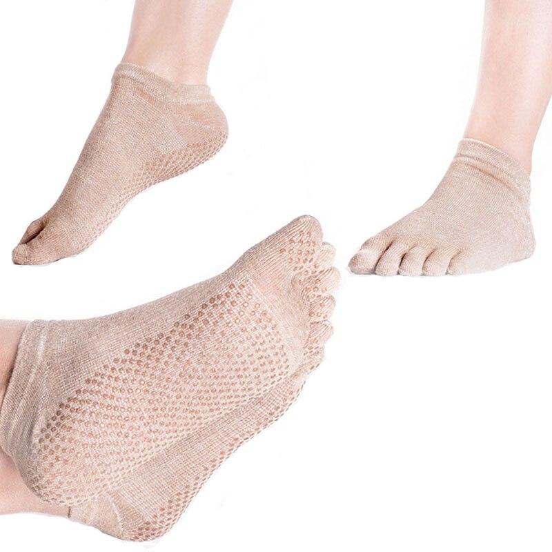 3 pairs Breathable toe yoga socks women pilates non slip sweat absorbing sports short socks woman for seasons