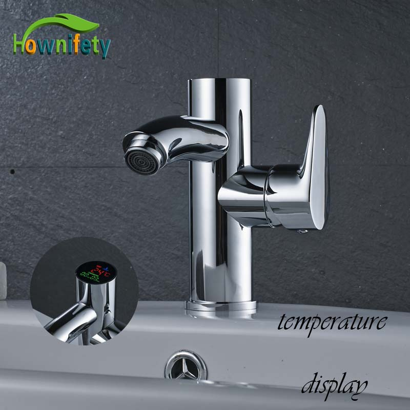 Free Shipping Bright Chrome Basin Faucet With Temperature And Digital Display Bathroom Sink Hot Cold Water Tap pastoralism and agriculture pennar basin india