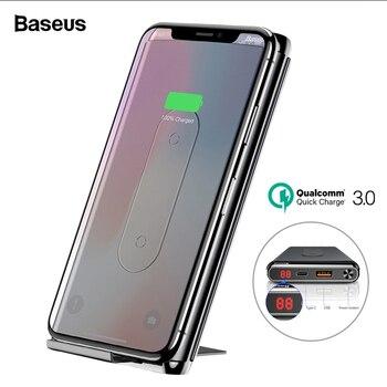 Baseus 10000 mAh быстрая зарядка 3,0 power Bank портативное Qi Беспроводное зарядное устройство power bank для Xiaomi Mi USB C PD быстрая Беспроводная батарея >> 3C Specialty Store