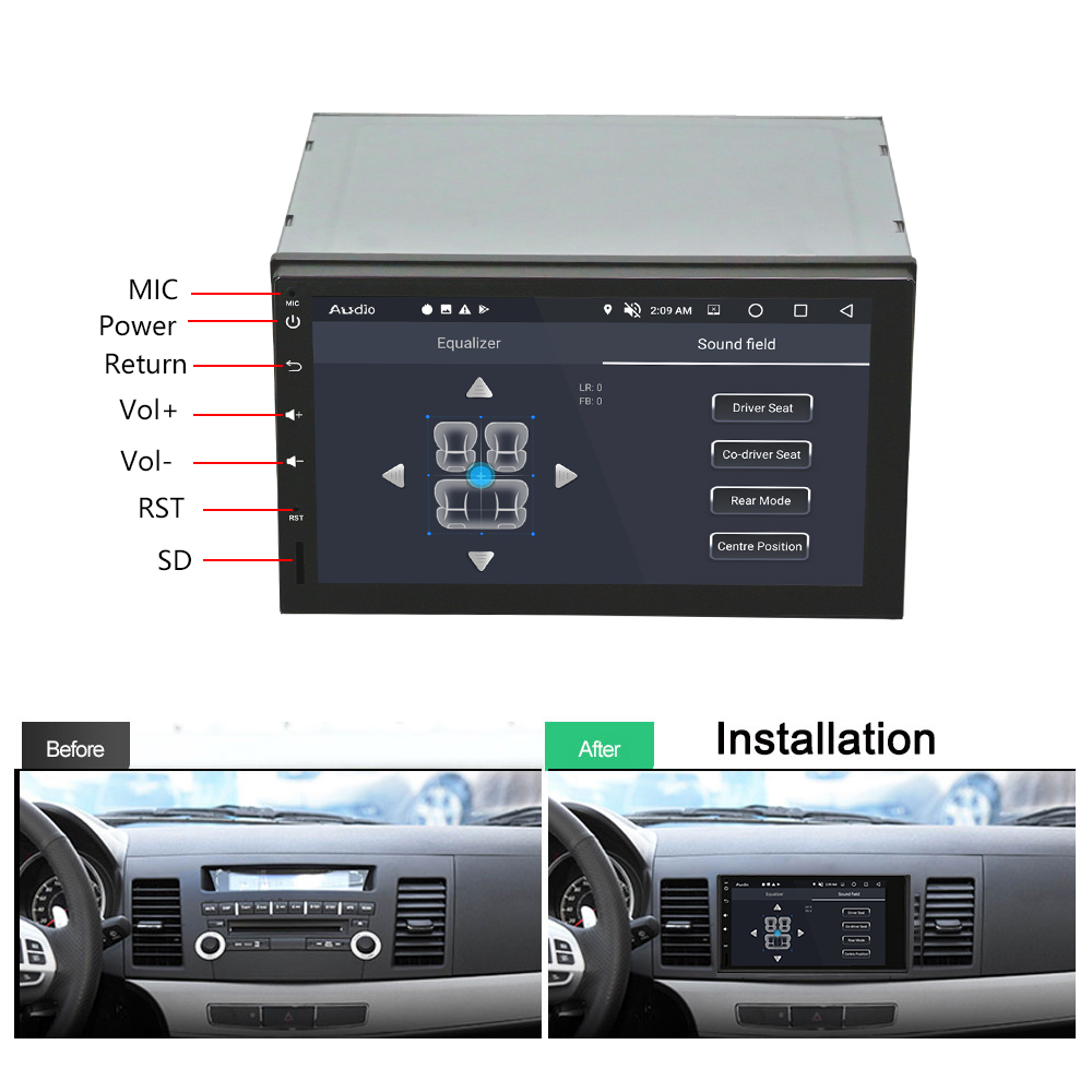 7 Car Radio Multimedia Player Audioradio BT Android 8.0 GPS Navigation Auto with Capacitive Screen Multimedia For Vehicle