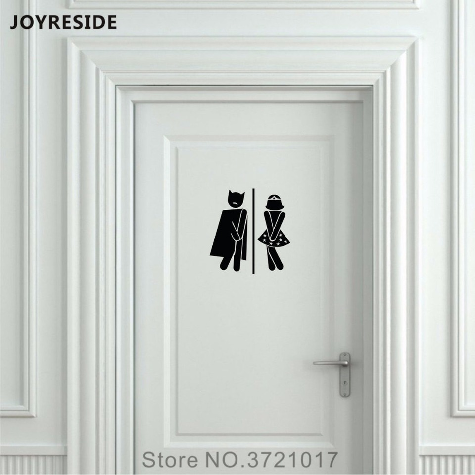 Bathroom Sign Toilet Door Wall Decal