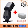 TRIOPO TR-586EX Беспроводная Вспышка TTL Speedlite Для Nikon D750 D800 D7100 D7000 как YONGNUO YN-568EX Вес Бесплатный диффузор