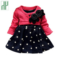 Baby Girl Dress Princess Autumn Dots Dress Wedding Kids Party Dresses 2015 New Arrival Retail
