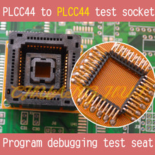 цена на Without Cover PLCC44 to PLCC44 test socket PLCC44 socket Program debugging test seat