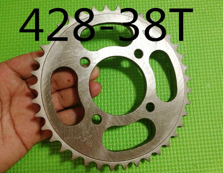 Engine <font><b>Sprocket</b></font> 428# <font><b>38T</b></font> Teeth/motorcycle <font><b>sprocket</b></font>/ For 428Chain With Retainer Plate Locker Motorcycle Dirt image