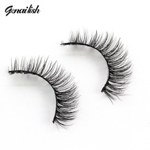 Genailish Mink Lashes 3D Mink Fur Fake Eyelashes Natutal Extensions Long Dramatic False Eyelashes Hand Made Eye Lashes A03
