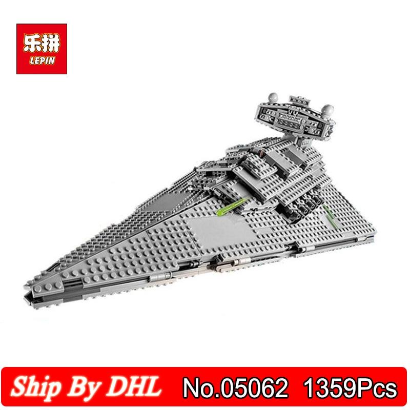 DHL Shipping Lepin Blocks 05062 Star Seties Wars Emperor Starship Spacecraft Model Building 1359Pcs Bricks Toy Legoingly 75055 сумка emperor mk20380 2014