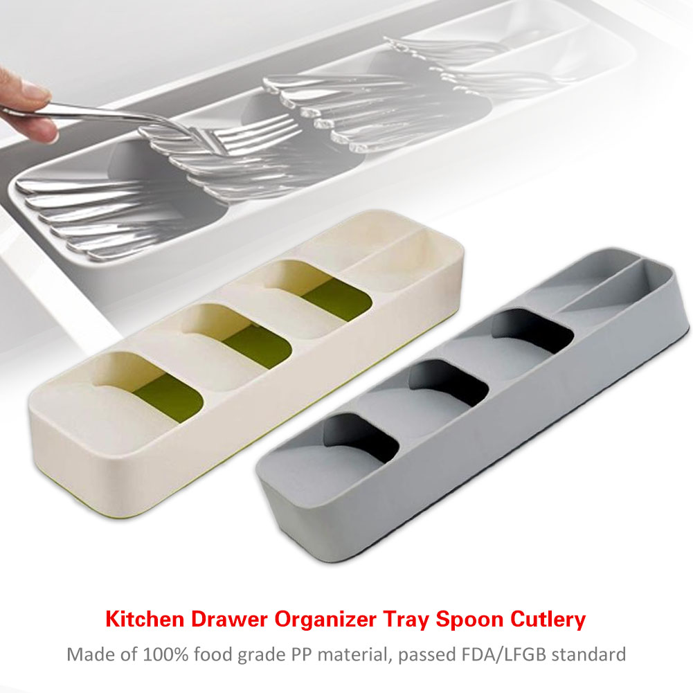 Kitchen Drawer Storage Tray Spoon Cutlery Separation Organizer Degradable Material Divider Tools Accessories