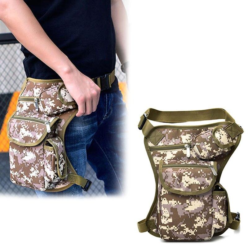 Men Women Drop Leg Bag Canvas Multi-Pocket Cycling Waist Pouch Outdoor Sports Casual Bags Best Sale-WT