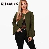KISSMILK Plus Size Western Style Fashion Solid Color Ruffles Long Sleeve 3XL 7XL Large Size 6