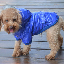 Winter Warm Pet Dog Cat Cotton Coat Doggie Fur Hoodie Padded Down Jacket Clothes Large