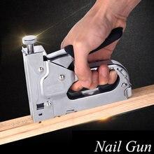 Пистолет для маникюра трехцелевой мебельный степлер обивки деревянных