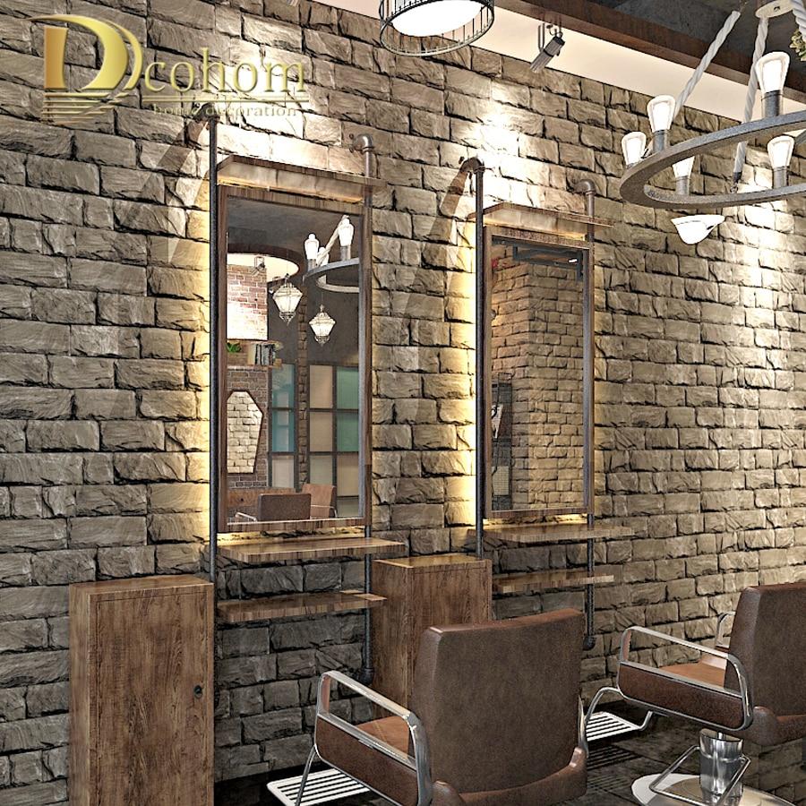 3d Wallpaper For Bedroom Walls Aliexpress Com Buy Marble Textured 3d Brick Wallpaper