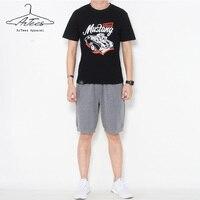 ArTees Ropa Nueva Moda de Verano Para Hombre de Manga Corta camiseta hombres Top Brand Mens Camisas de Fitness Hombres Cómodos de Algodón Tee camisa