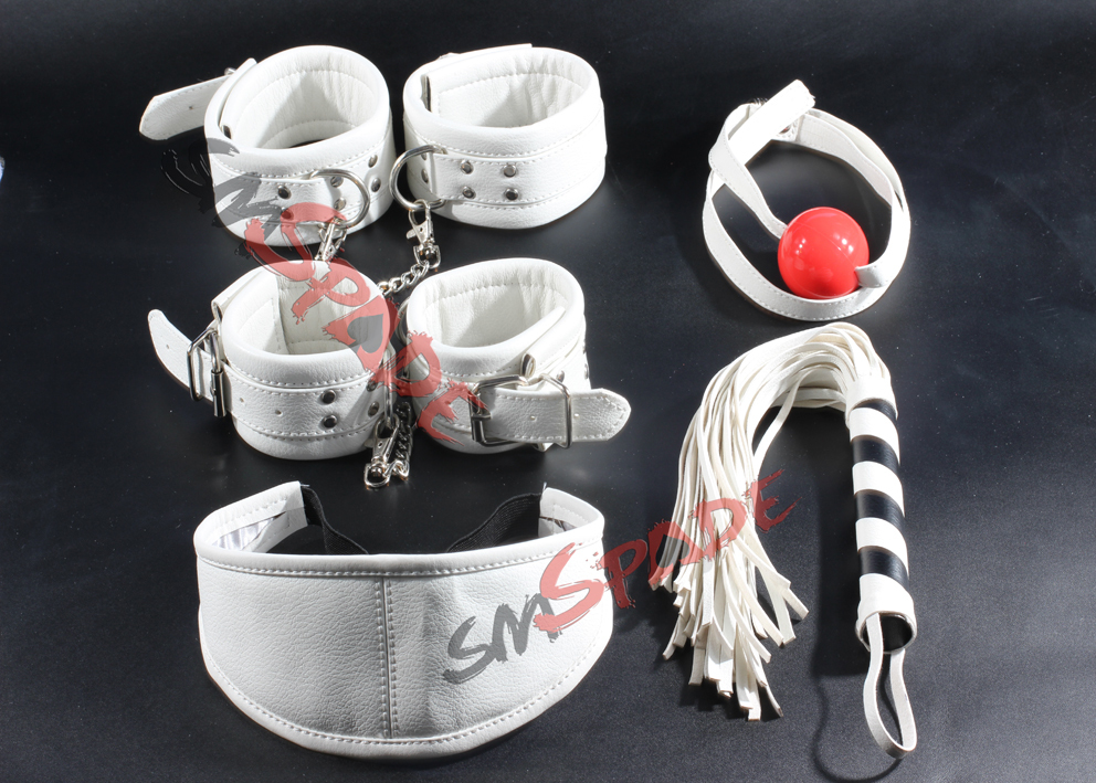 15 Off Free Shipping Pu Leather Hand Cuffs Whip Blindfold -4585