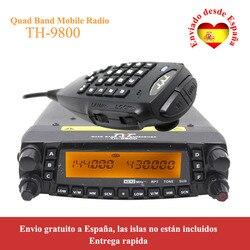 Transceptor móvil de última versión TYT TH-9800 50W Quad Band 29/50/144/430MHz woki toki 2 tonos/5 tonos