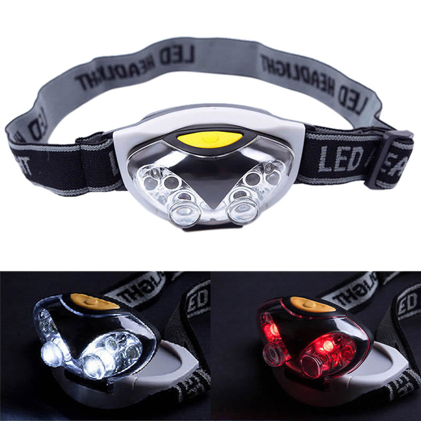 High Quality 3 Modes Bright 6 LED Head Lamp Light Torch Headlamp Headlight ...
