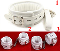 Leather Padded Neck Collars&Hand Cuffs &Ankle Cuffs ,BDSM Roleplay Bondage Restraints,Sex Toys For Couple
