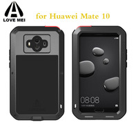 Mate10 Warterproof Shockproof Case Original LOVEMEI Powerful Metal Case For Huawei Mate 10 Luxury Aluminum 360