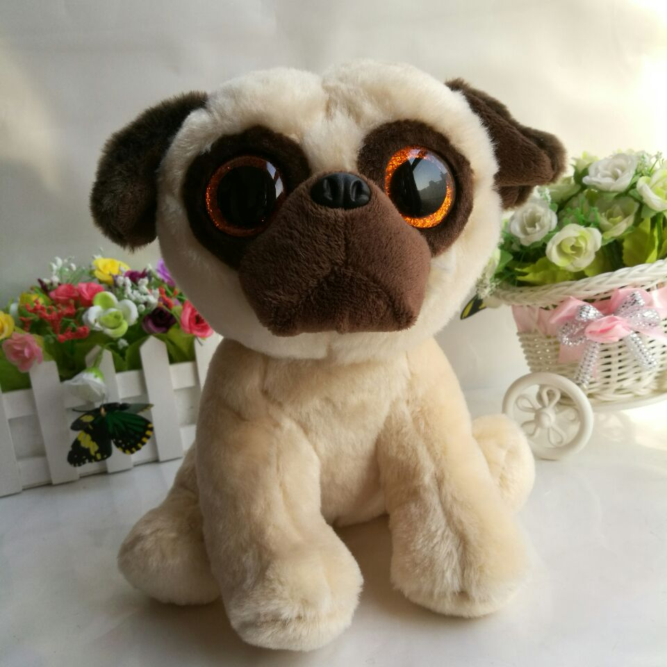 Rufus pug dog 25cm 10 inch Ty classic Plush Toy Stuffed Animal Soft Kids  Toy Christmas Gift Hot Sale 263b5c90a