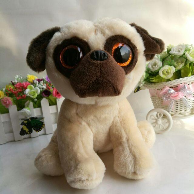 229c0a8c5403d2 Rufus pug dog 25cm 10 inch Ty classic Plush Toy Stuffed Animal Soft Kids Toy  Christmas Gift Hot Sale